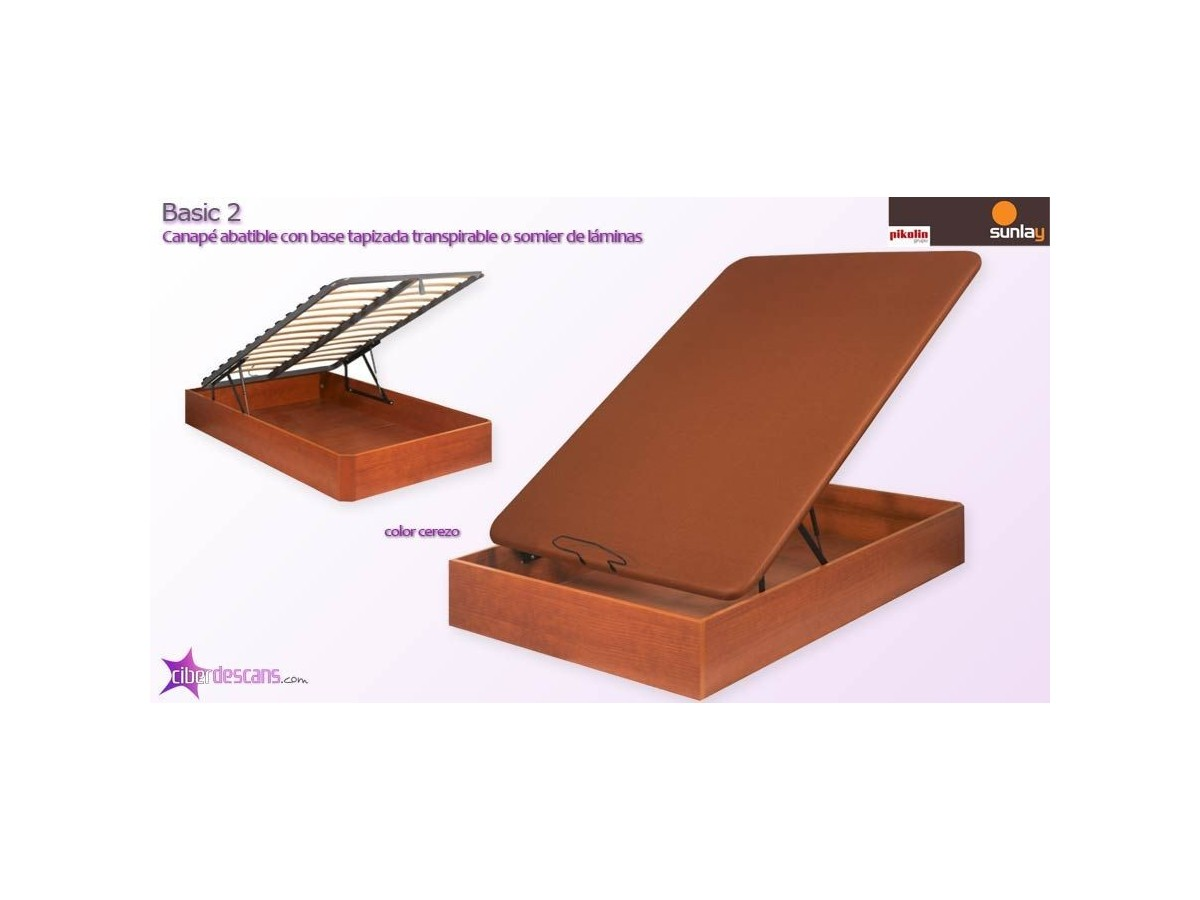 Comprar canape abatible madera basic 2 sunlay online for Canape abatible barcelona