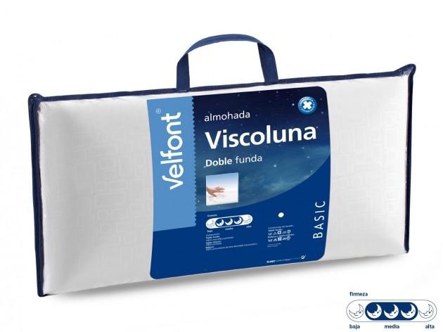 Almohada Viscoelastica Viscoluna doble funda Velfont