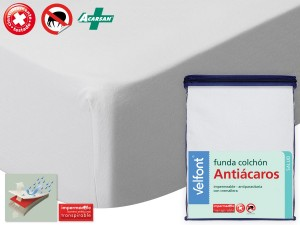 Funda Colchon Impermeable Antiacaros y Antichinches de Velfont
