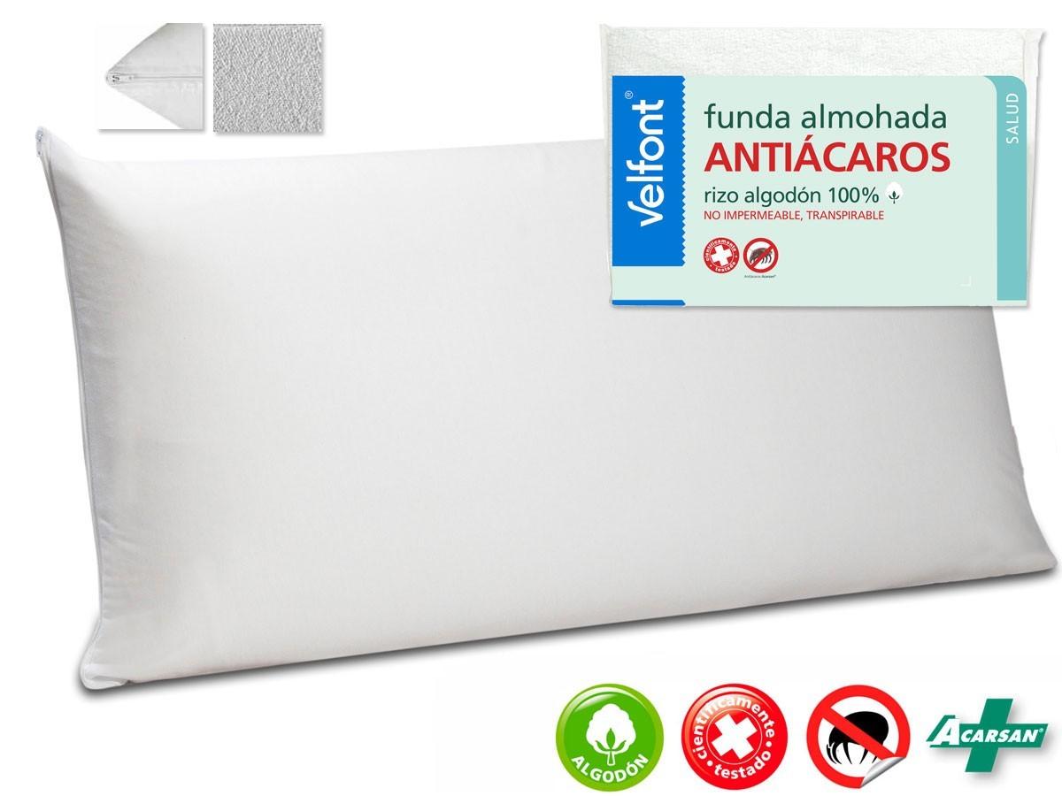 Comprar funda de almohada rizo antiacaros de velfont - Funda almohada antiacaros carrefour ...