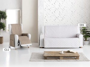 Funda Sofa y Sillon Practica Dual Quilt de Eysa C01 y C11