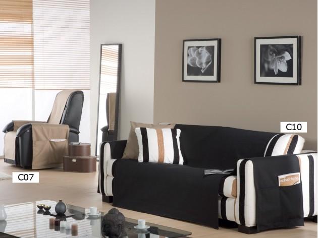 Funda de sofa practica lona liso de eysa barata - Fundas sofa madrid ...