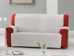 Funda de Sofa Practica Zoco de Eysa C01 blanco roto