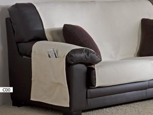 Bolsillo revistero de la Funda de Sofa Practica Peiro de Eysa C01 beige