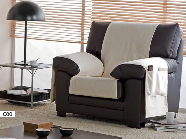 Funda de Sofa Practica Trigo 1 plaza de Eysa C00 blanco