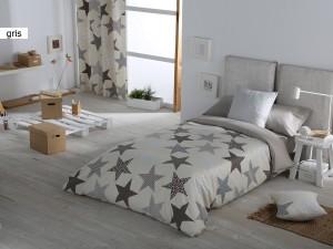 Funda Nordica juvenil Estrellas de Confecciones Paula color gris