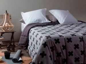Edredón Nordico Estampado Velvet de Velfont color indigo
