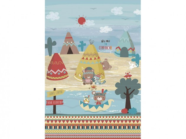 Panel de Tela de algodón Indi de JVR