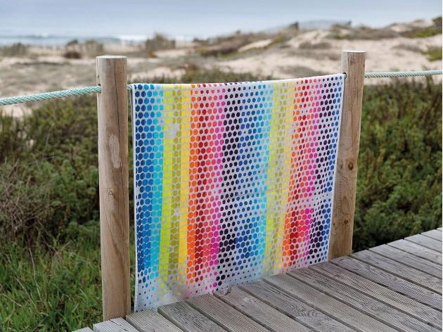 Toalla de Playa Paradise de Sorema tacto terciopelo