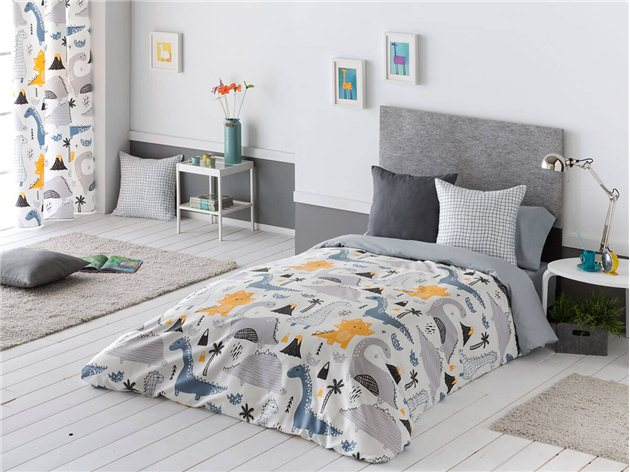 Funda Nórdica Infantil Dinos con sábana bajera