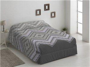 Edredón Conforter Amalia color gris