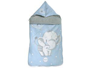 Saco Capazo Cuco Elefantino Pekebaby azul