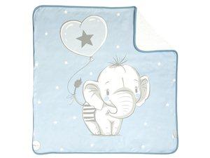 Arrullo Algodón Bebé Elefantino Pekebaby azul