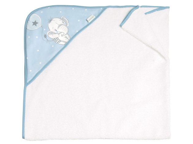 Capa de Baño Bebé Elefantino Pekebaby azul