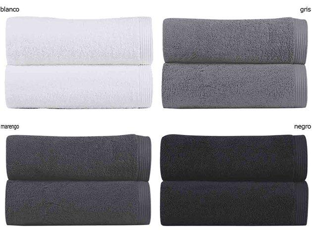 Toallas New Plus colores blanco, gris, marengo, negro
