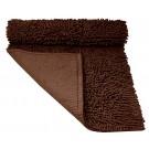 Alfombra Shagy para baño color chocolate