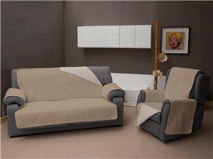 Funda de Sofá Reversible TV color beige