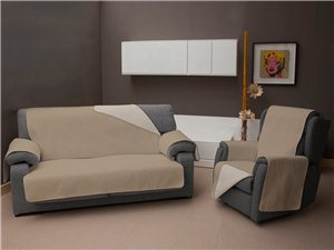 Funda Chaise Longue Reversible TV color beige