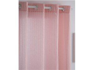 Visillo Rayas de Confecciones Paula rosa
