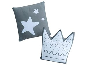 Cojines Bebé Little Crown con relleno azul