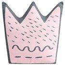 Cojín Forma Little Crown de percal rosa