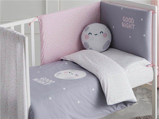 Saco Nórdico Cuna rosa Good Night con relleno