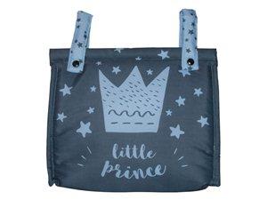 Talega Carro Bebé Little Crown Pekebaby azul