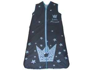 Saco Dormir Bebé Little Crown Pekebaby azul