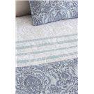 Comforter jacquard azul Irún