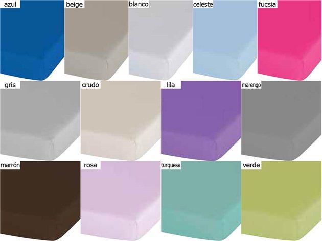 Colores de la Sábana Bajera Lisa Basic de Confecciones Paula