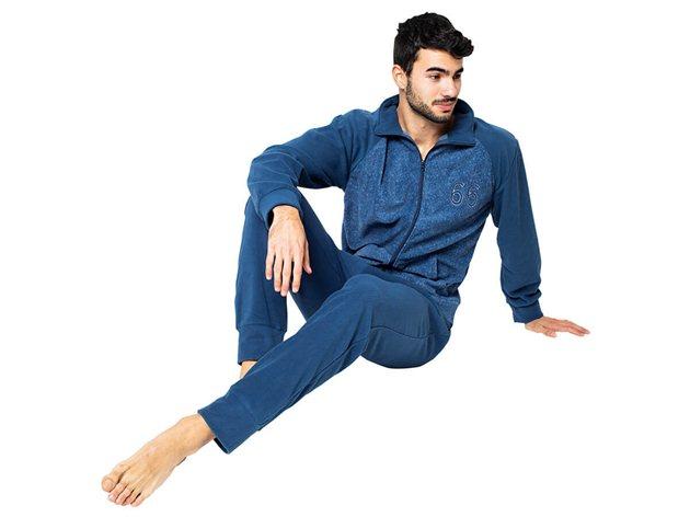 Pijama Chaqueta Coralina Hombre Luigi