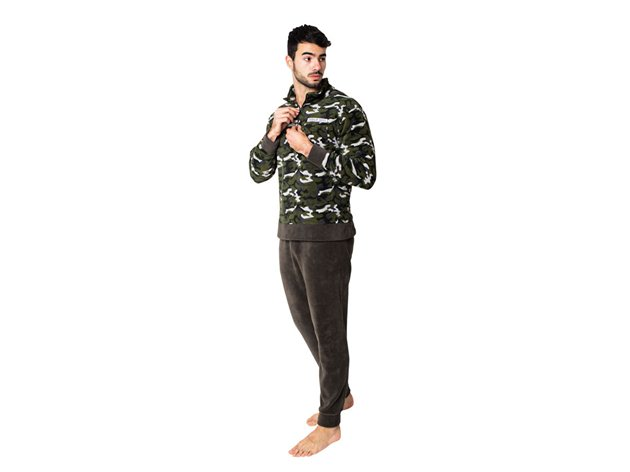 Pijama Chaqueta Coralina Hombre Sam
