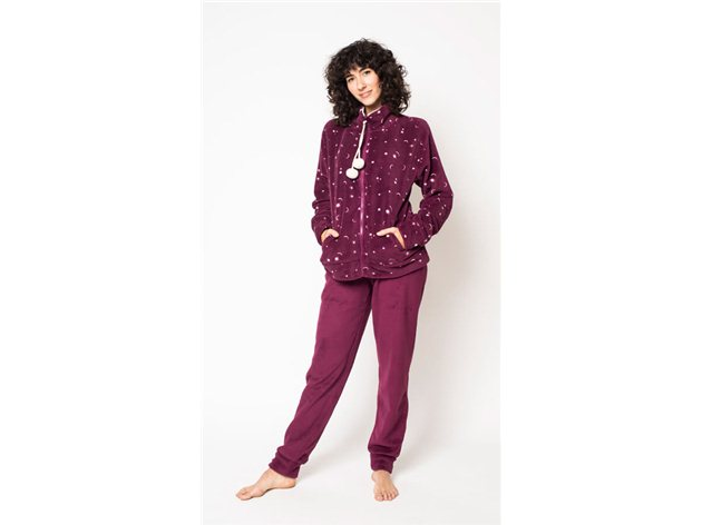 Pijama Chaqueta Coralina Mujer Rubí