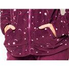 Pijama de invierno para mujer Rubí con bolsillos