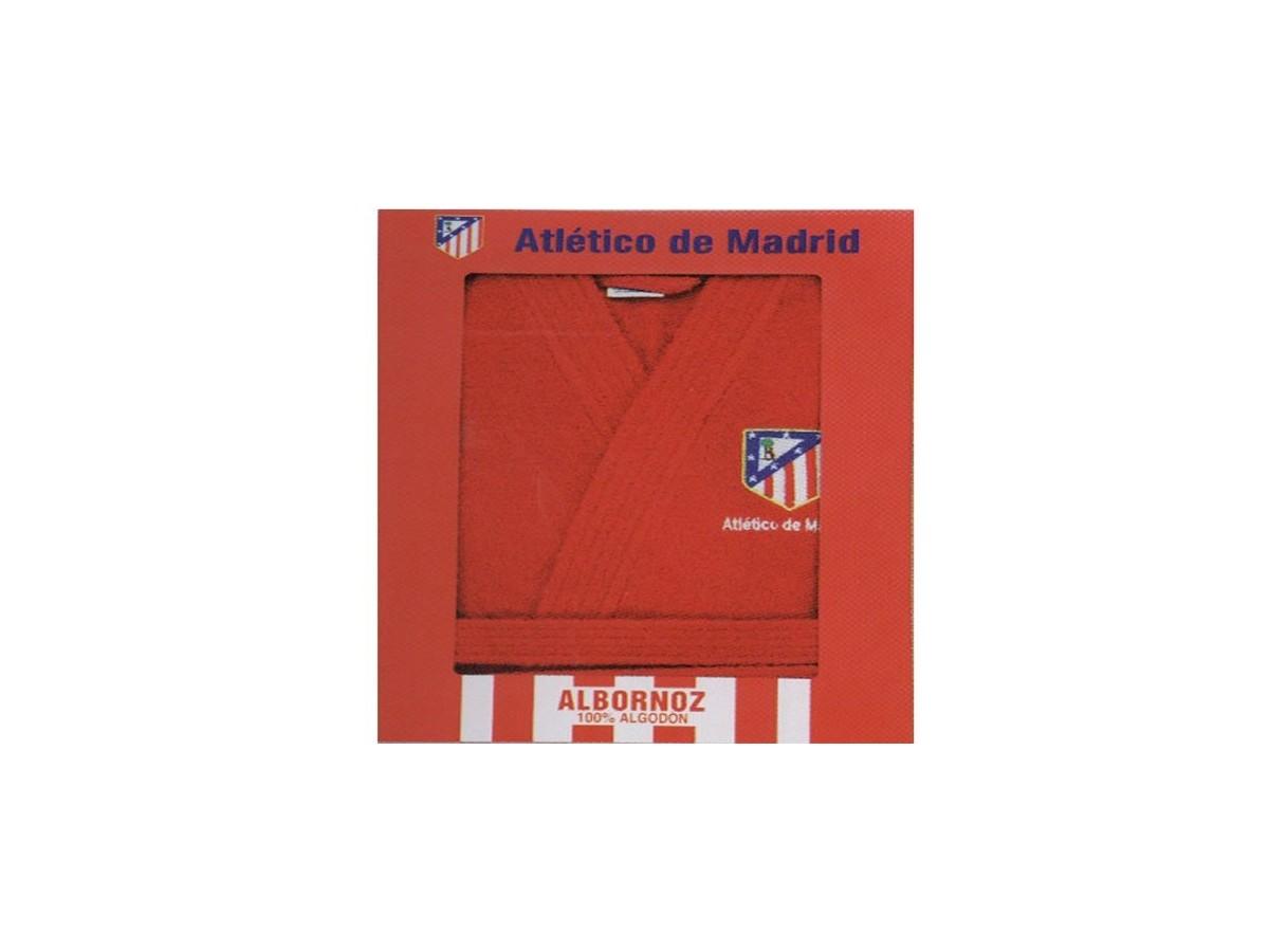 Albornoz Oficial del Atlético de Madrid Rojo Sin Capucha 1e963288b4e6d