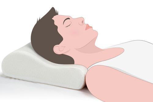 Almohada Cervical AH29 para dormir boca arriba