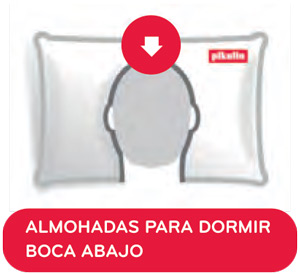 Almohada Pikolin Petit Plus para niños y para quienes duermen boca abajo