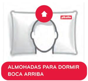 Almohada Pikolin Cervical Viscoelástica para dormir boca arriba