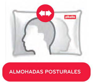 Almohada de Fibra Noah Plus de Pikolin para quienes cambian mucho de postura