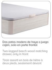 Patas curvadas de madera del Canape Forte de La Premier