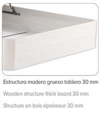 Estructura con tablero de madera de 3cm del Canapé Forte