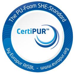 Etiqueta Europea CertiPUR. Poliuretano seguro
