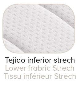 Colchón Terapéutico antitoxinas Harmony con tejido inferior Strech