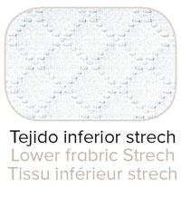 Tejido inferior Strech transpirable del Colchón Karma para una ventilación y elasticidad perfectas