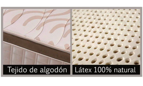 Colchón Viscolátex con tejido de algodón