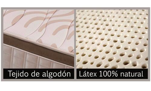 Colchón Visco-Látex con tejido de algodón acolchado