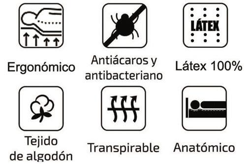 Colchón Élite Viscolátex ergonómico y antialérgico
