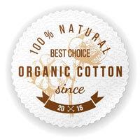 Sello de calidad del algodón orgánico utilizado para el Colchón Wilson de La Premier