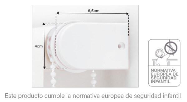Medidas del Estore Liso de Confecciones Paula