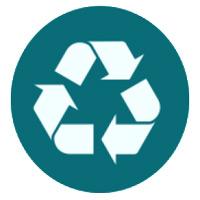 Almohada elaborada con materiales reciclables no nocivos